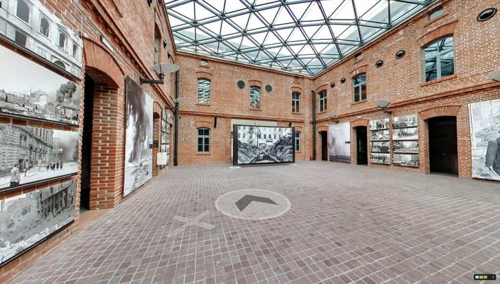 Spacer wirtualny Street View po Muzeum AK w Krakowie